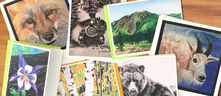 New Gift Item: Colorado-Themed Fine Art Notecards Feature  Monument and Palmer Lake Landmarks